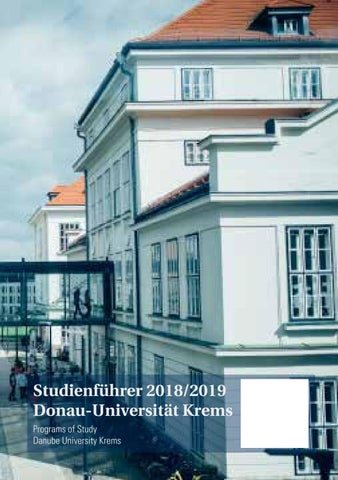 Studienführer 2018/19 by Donau-Universität Krems - issuu