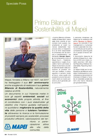 Page 68 of Mapei presenta il primo bilancio di sostenibilità