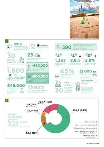 Page 69 of Mapei presenta il primo bilancio di sostenibilità