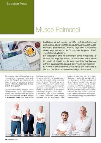 Page 72 of Il Museo Raimondi celebra la storia della posa italiana
