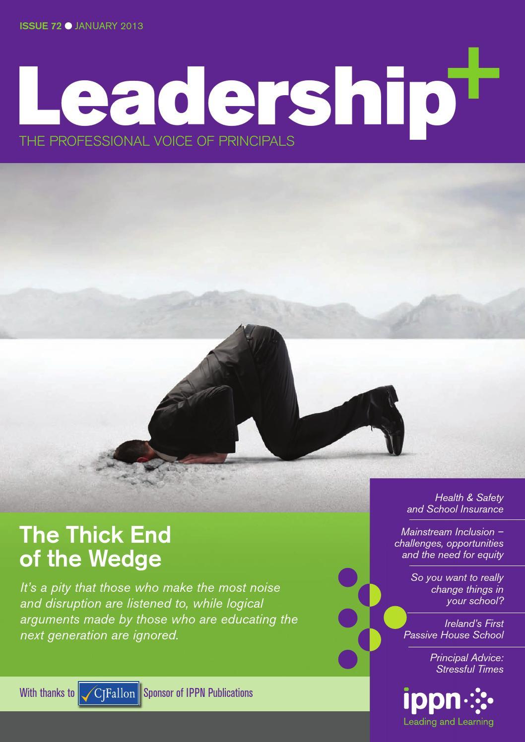 Leadership+ Issue 72 January 2013 by Irish Primary Principals