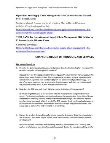 And 14th chain operations edition pdf supply management