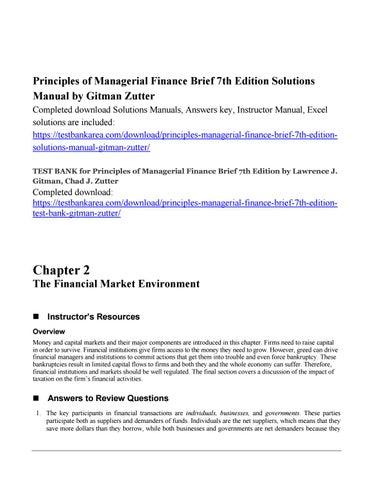 Tst Bnk Managerial Finance