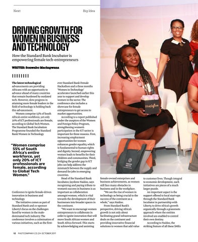 Page 14 of Driving Growth for Women in Business and Technology