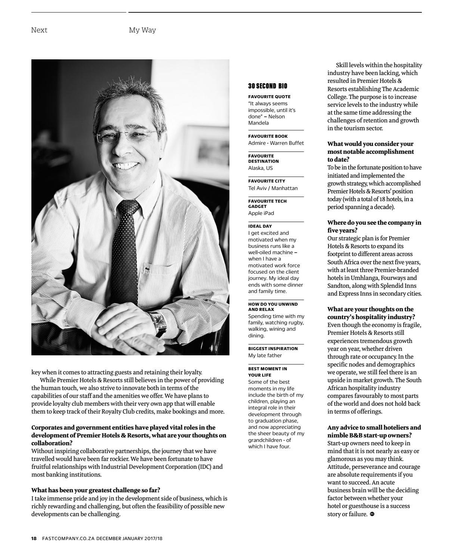 Fast Company SA Dec / Jan 2017/18 - Issue 32 by Fast Company SA - issuu