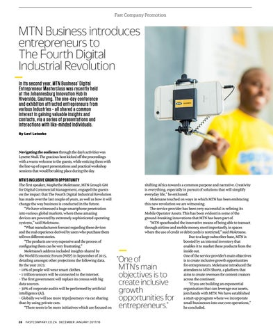 Page 30 of MTN Business introduces entrepreneurs to The Fourth Digital Industrial Revolution