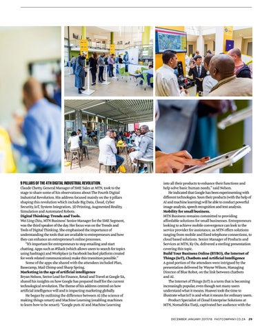 Page 31 of MTN Business introduces entrepreneurs to The Fourth Digital Industrial Revolution