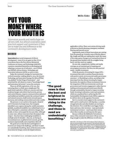 Page 92 of Put your money where your mouth is