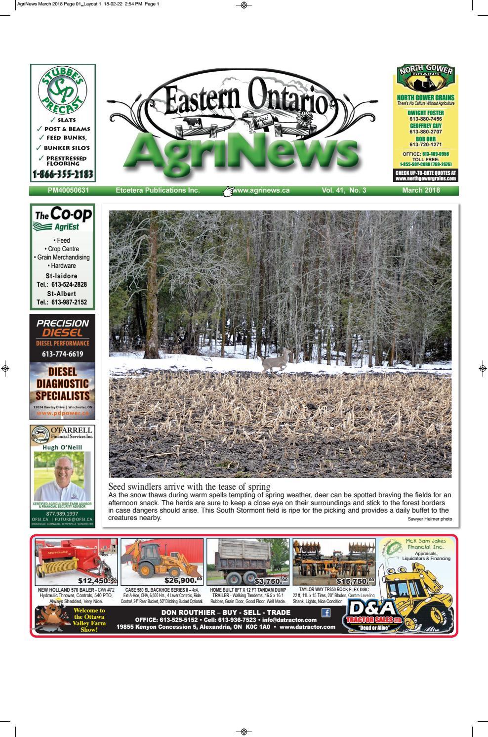 4689c216f8f91 Agrinews March 2018 by Robin Morris - issuu
