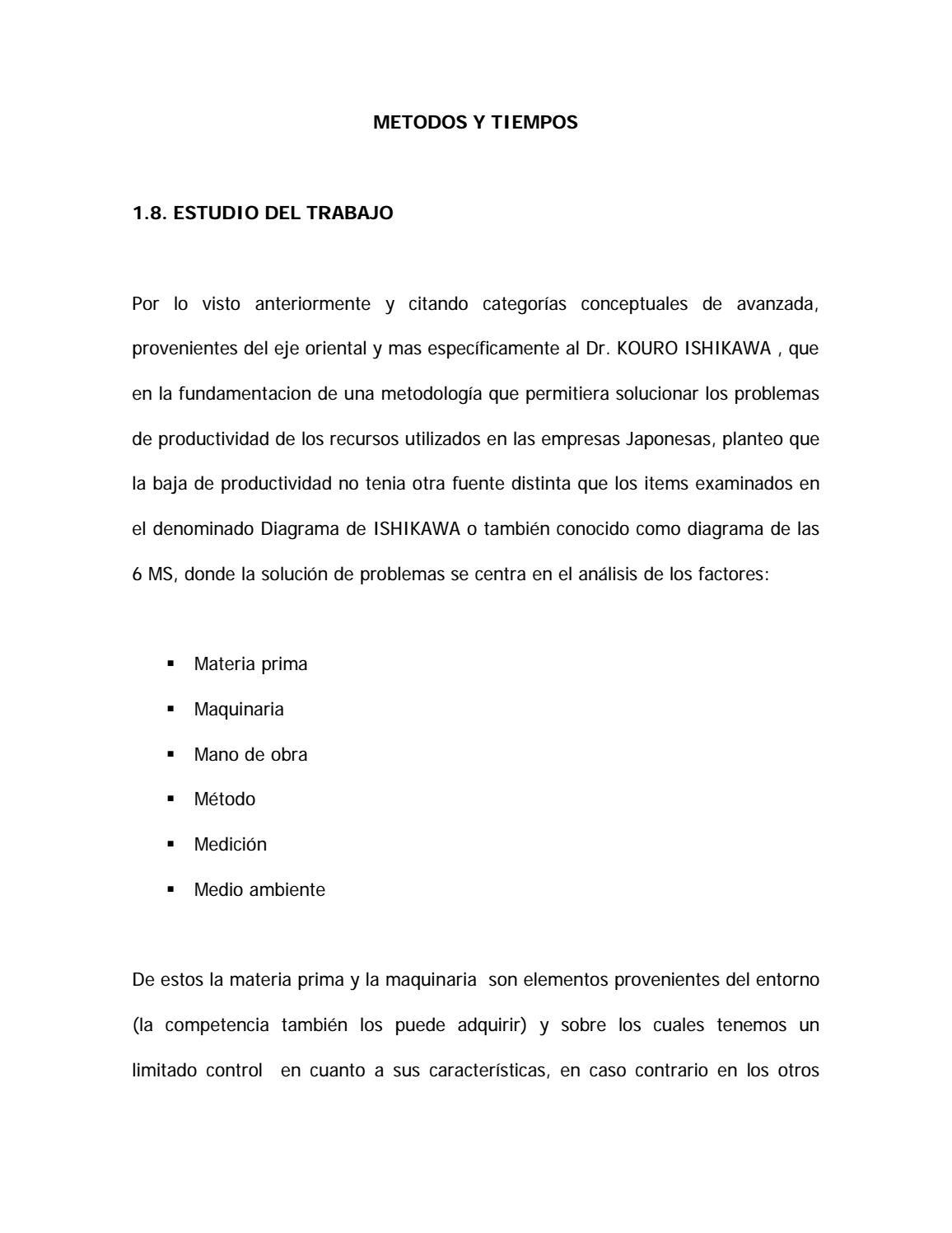 Estudio de metodos y movimintos by Teira Sabine MH - issuu