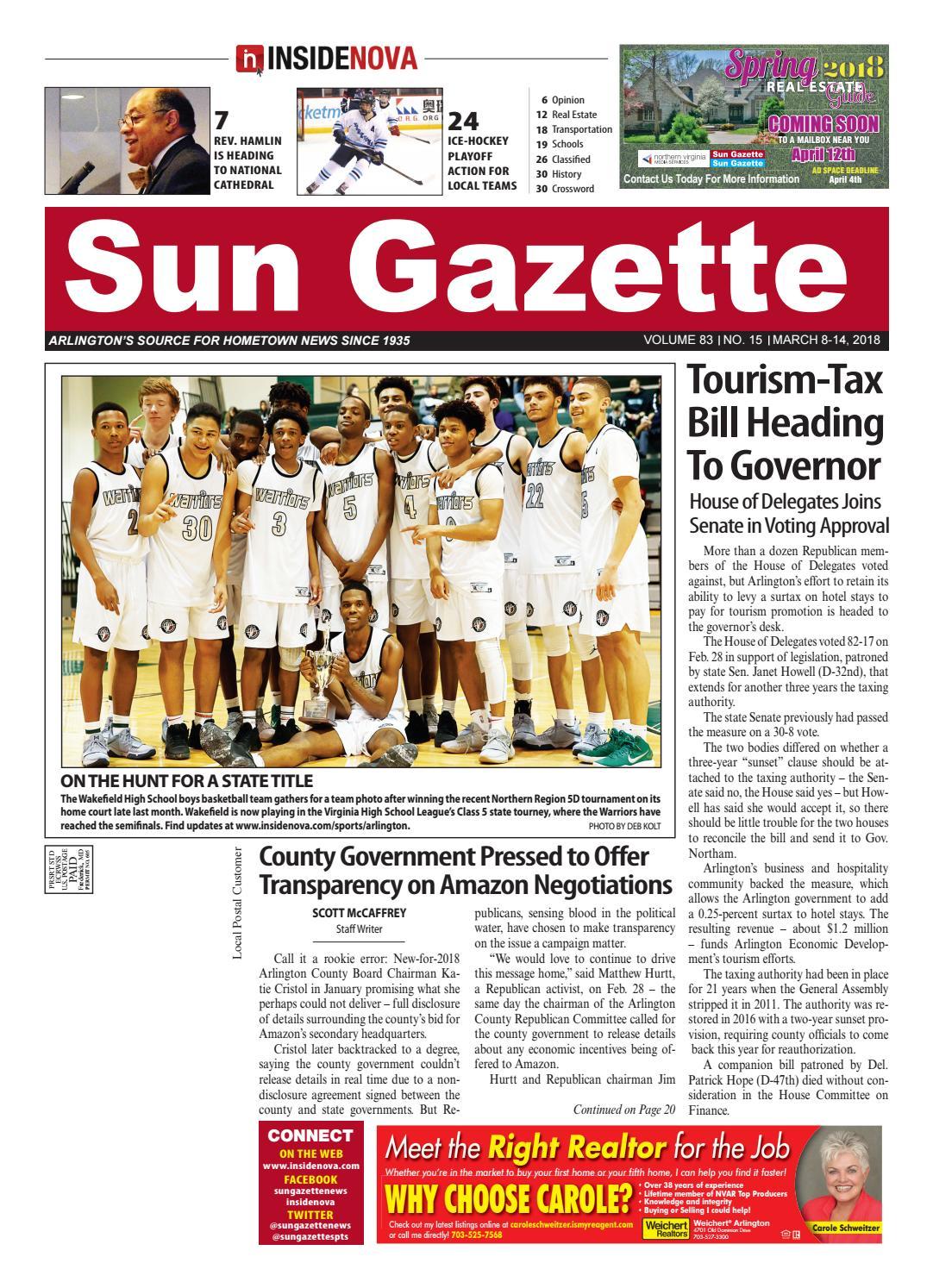 Sun Gazette Arlington, March 8, 2018 by InsideNoVa - issuu