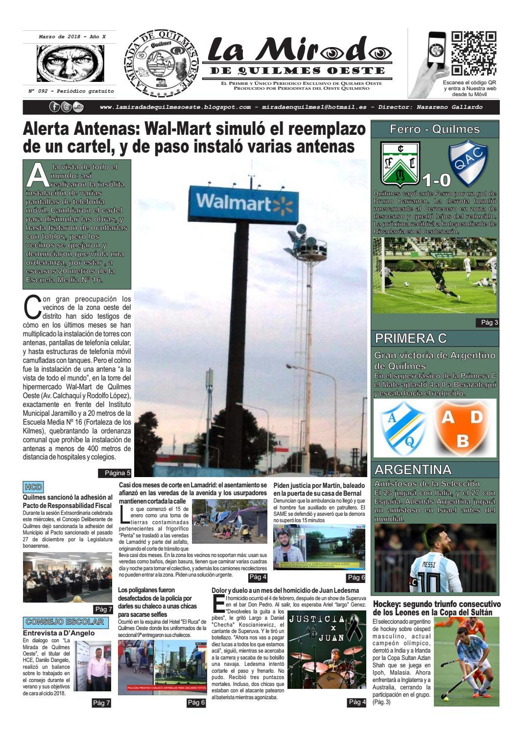La Mirada de Quilmes Oeste - Nº 92 by La Mirada de Quilmes Oeste ...