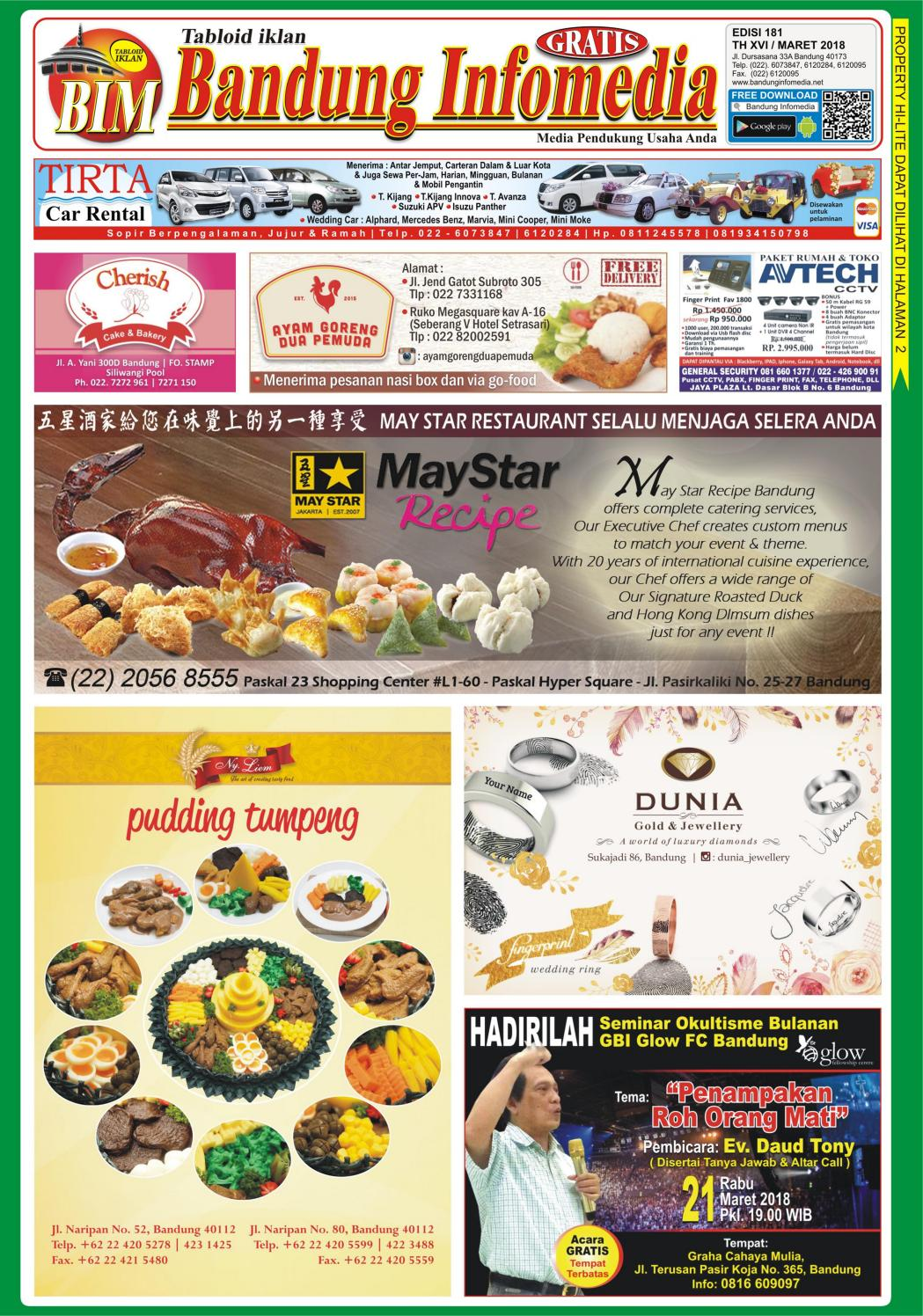 E Tabloid Bandung Infomedia Edisi 181 Maret 2018 By Tabloid