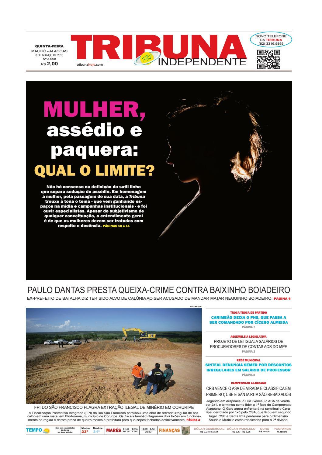 Edição número 3098 - 8 de março de 2018 by Tribuna Hoje - issuu aee9c979d4