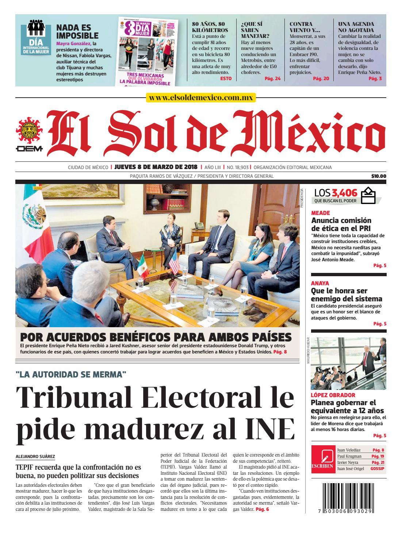 135a2f22 El Sol de México 8 de marzo 2018 by El Sol de México - issuu