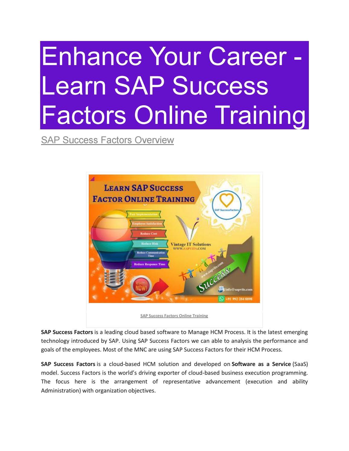 SAP Success factor PDF by shruti allentics - issuu