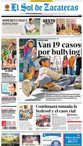 El Sol de Zacatecas 8 de marzo 2018 by El Sol de Zacatecas - issuu 8b7d00d3a89