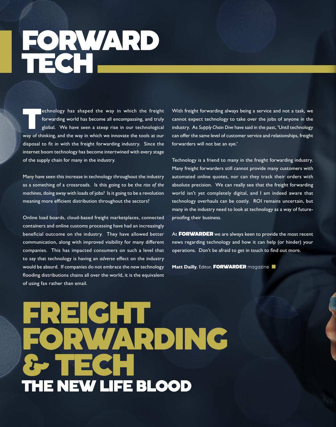 FORWARDER magazine February 2018 'Airports & Seaports' by