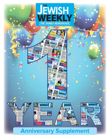 The Jewish Weekly 1 Year Anniversary Supplement By The