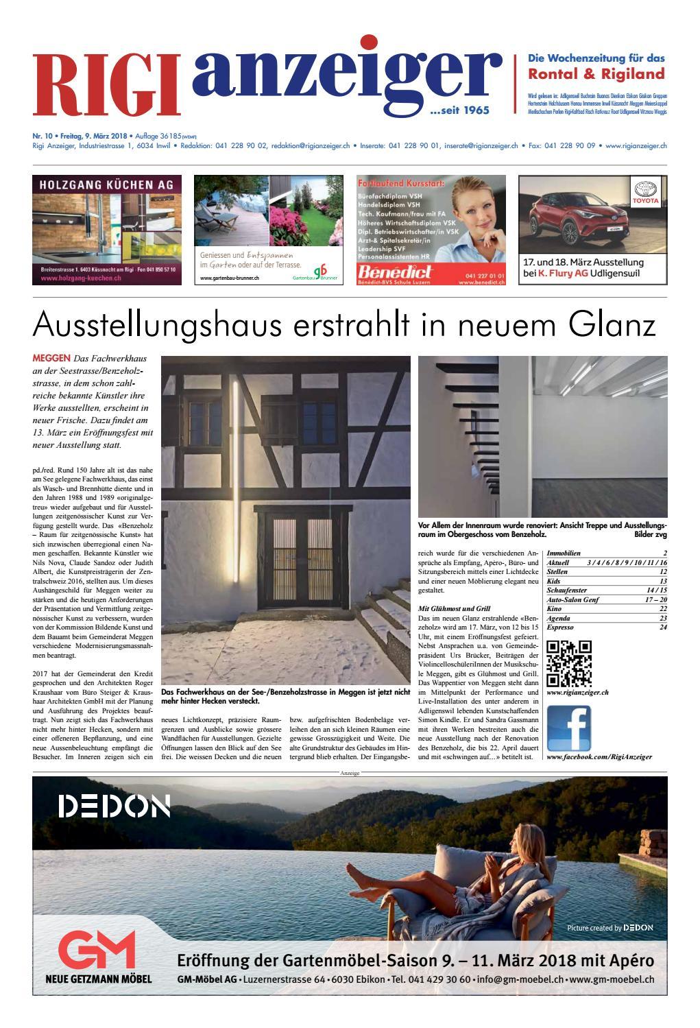 Rigi Anzeiger, 9. März 2018 by Rigi Anzeiger GmbH - issuu