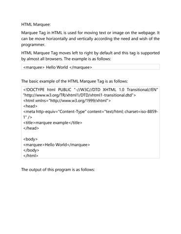 html marquee by eitworld - issuu