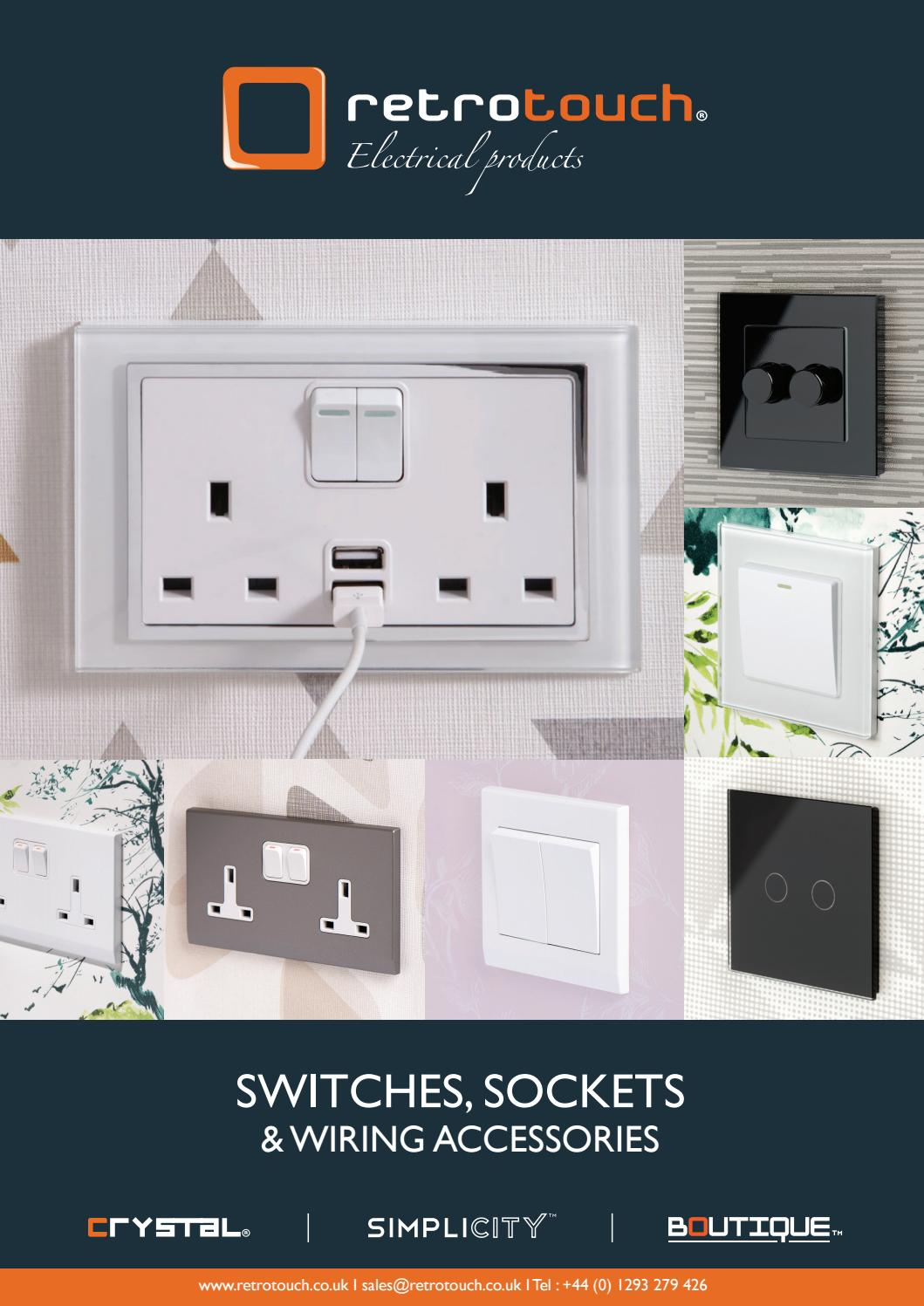 Electrical Wiring Accessories Products Retrotouch Brochure Aw2017 By Issuu