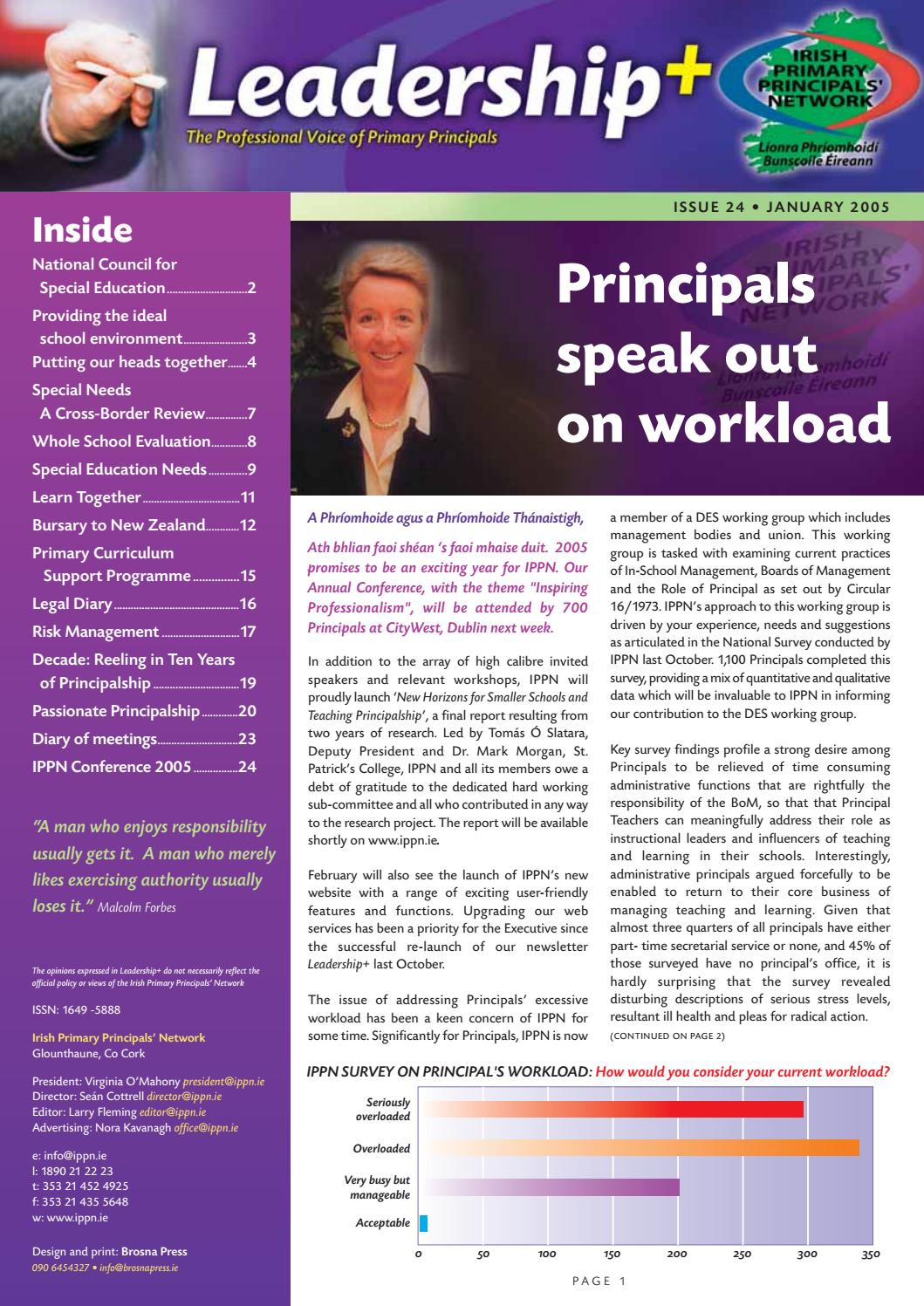 Leadership+ Issue 24 January 2005 by Irish Primary Principals