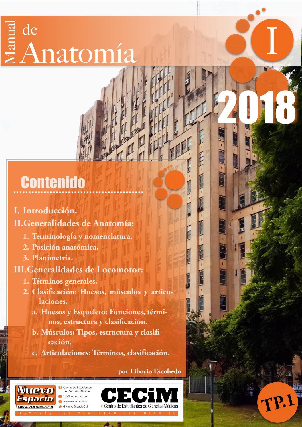 01 Generalidades Anatomía - Ingresantes 2018 by Liborio Escobedo - issuu