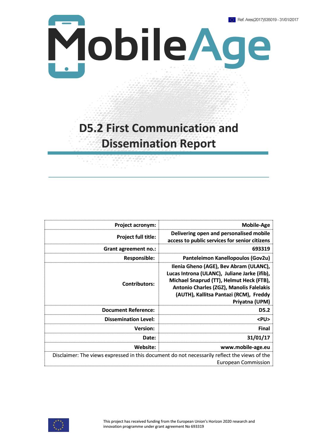 D5 2 First communication and Dissemination Report min by Mobile Age EU  Project - issuu b6bd88a4126