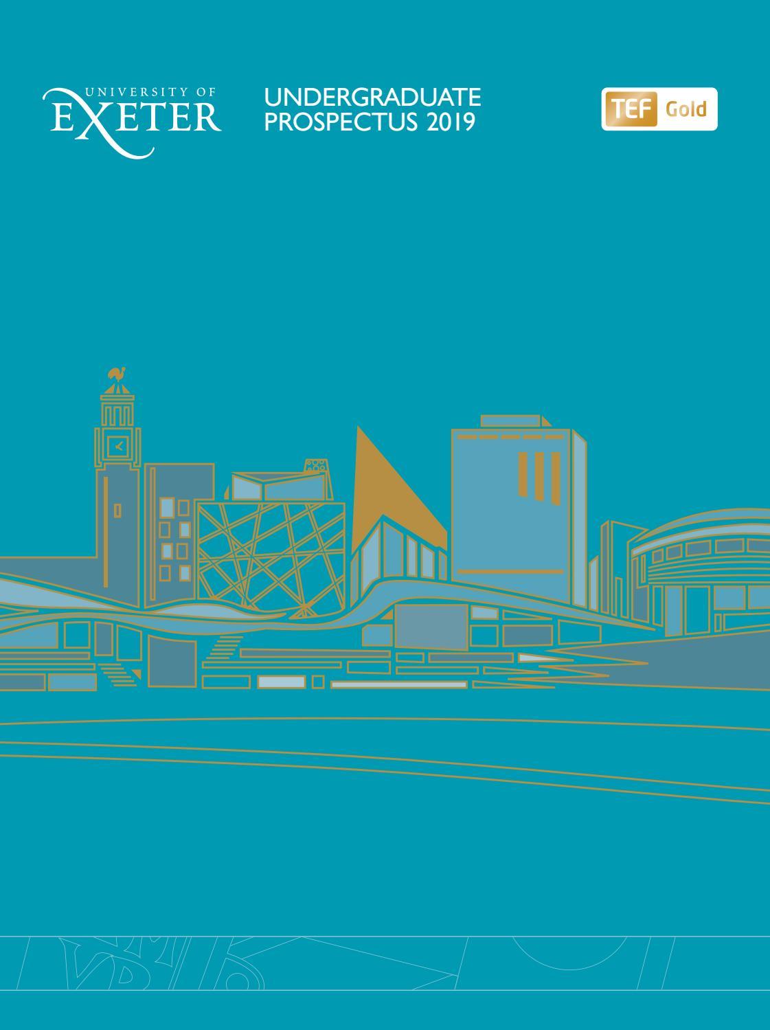 Undergraduate Prospectus 2019 entry by University of Exeter - issuu