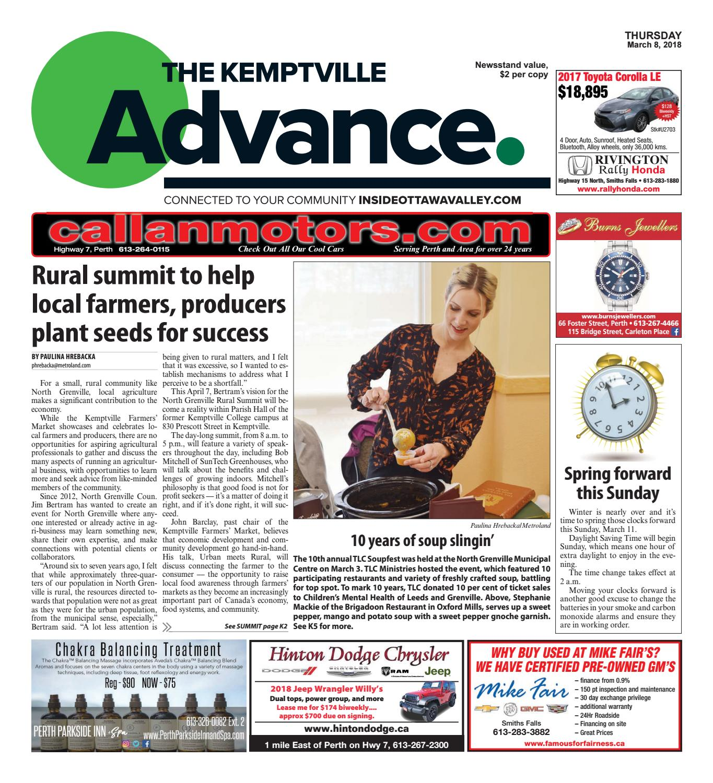 Kemptville030818 by Metroland East - Kemptville Advance - issuu