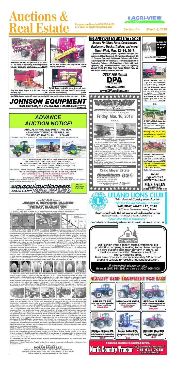March 8 2018 Auctions And Real Estate By Madisoncom Issuu Mule 3010 Snow Plow Wiring Diagram