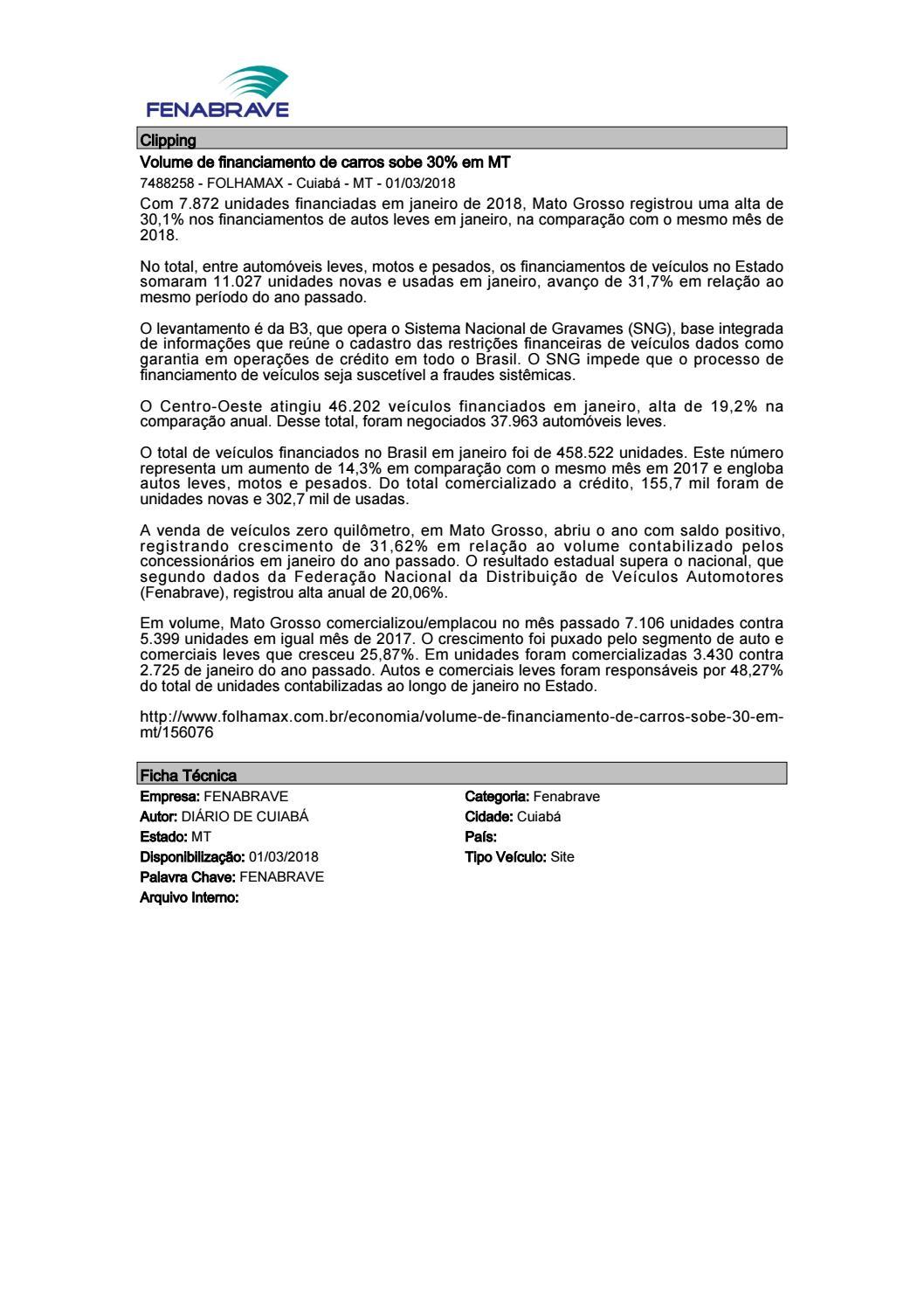 bf95abdb2 Clipping Fenabrave 01.03.2018 by MCE Comunicação - issuu
