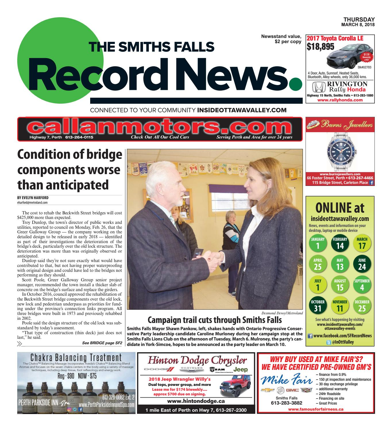 Smithsfalls030818 by Metroland East - Smiths Falls Record News - issuu