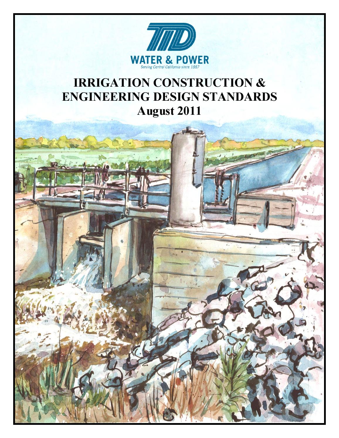 Tid Irrigation Construction Engineering Design Standards By