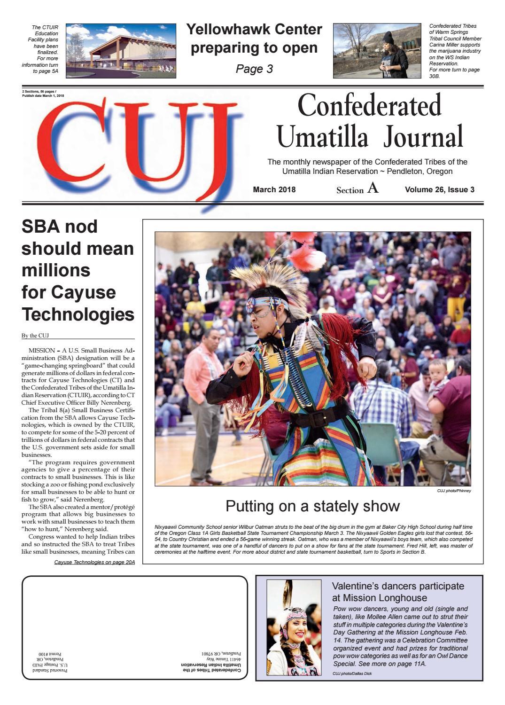 Confederated Umatilla Journal 03-2018 by Confederated Umatilla