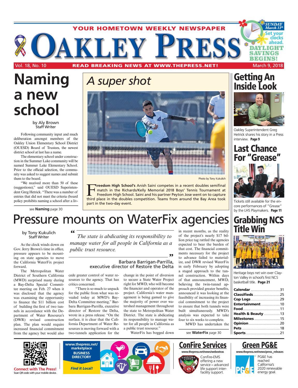 aec8409f5655 Oakley Press 03.09.18 by Brentwood Press   Publishing - issuu