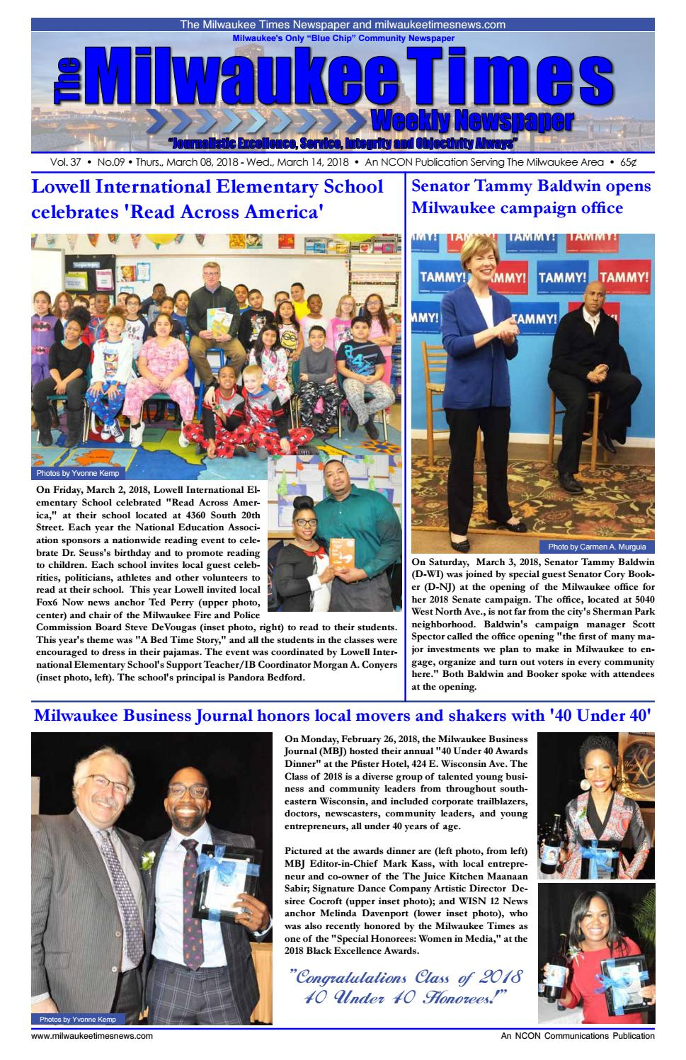 Miltimes 03 08 18 16 pgs by Milwaukee Times News - issuu