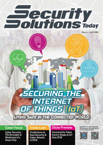 Security solutions today mar apr 2018 by security solutions today securing the internet of things iot living safe in the connected world cover focus fandeluxe Choice Image