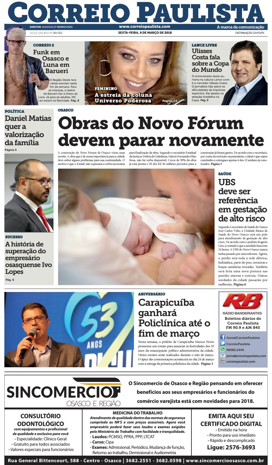 jornal Correio Paulista 1312 by Jornal Correio Paulista - issuu 00b84a6e8fe26