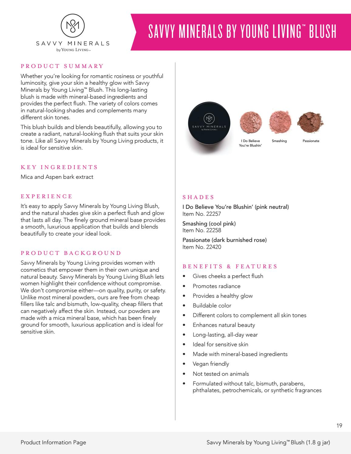 Savvy Minerals by Young Living™ Product Information by Young Living