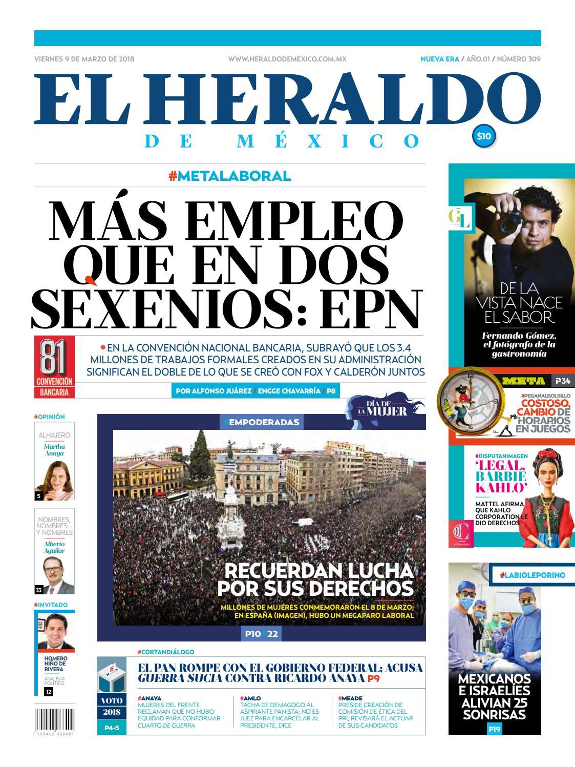 29d5284cd6 El Heraldo de México 9 de Marzo 2018 by El Heraldo de México - issuu