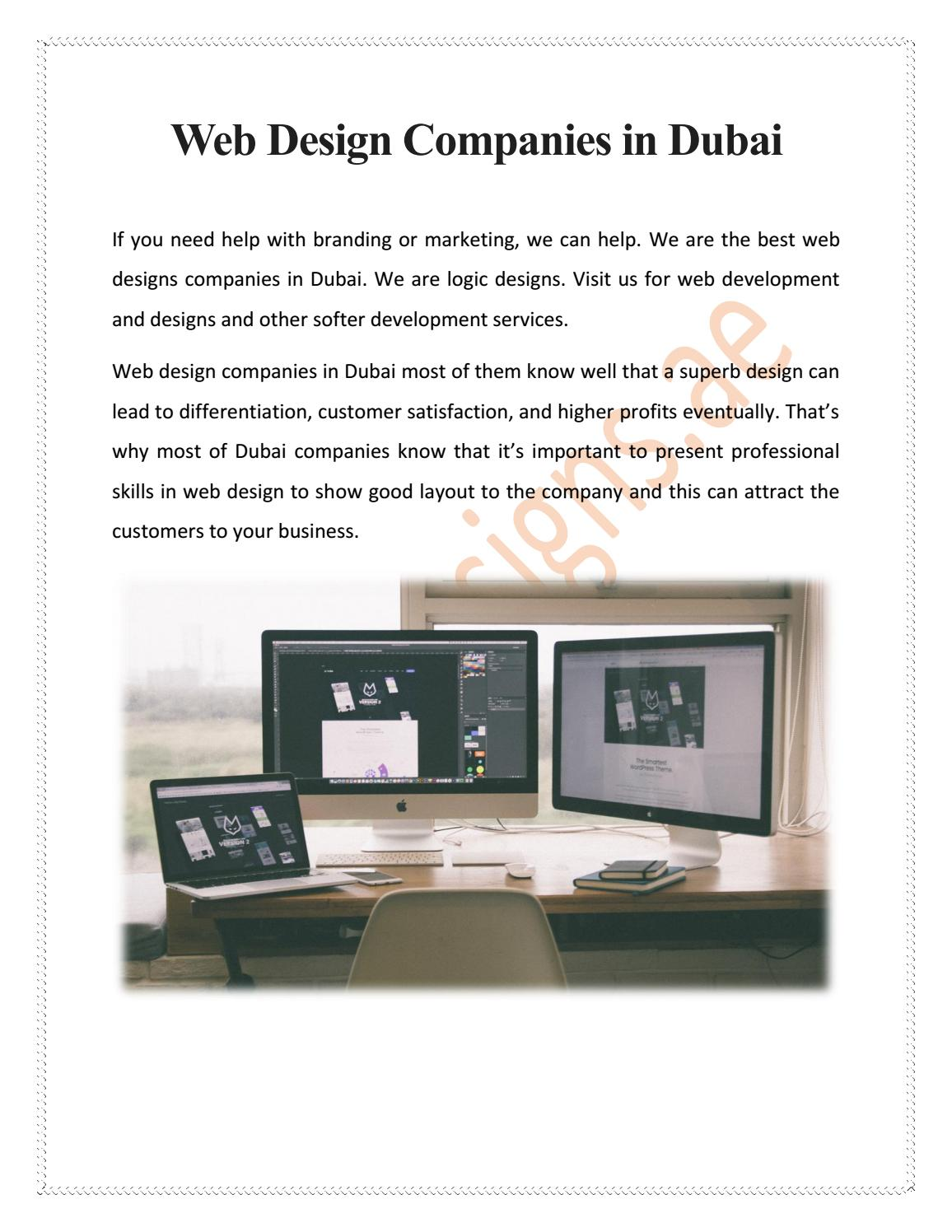 Web Design Companies In Dubai By Mitchellhayden12 Issuu