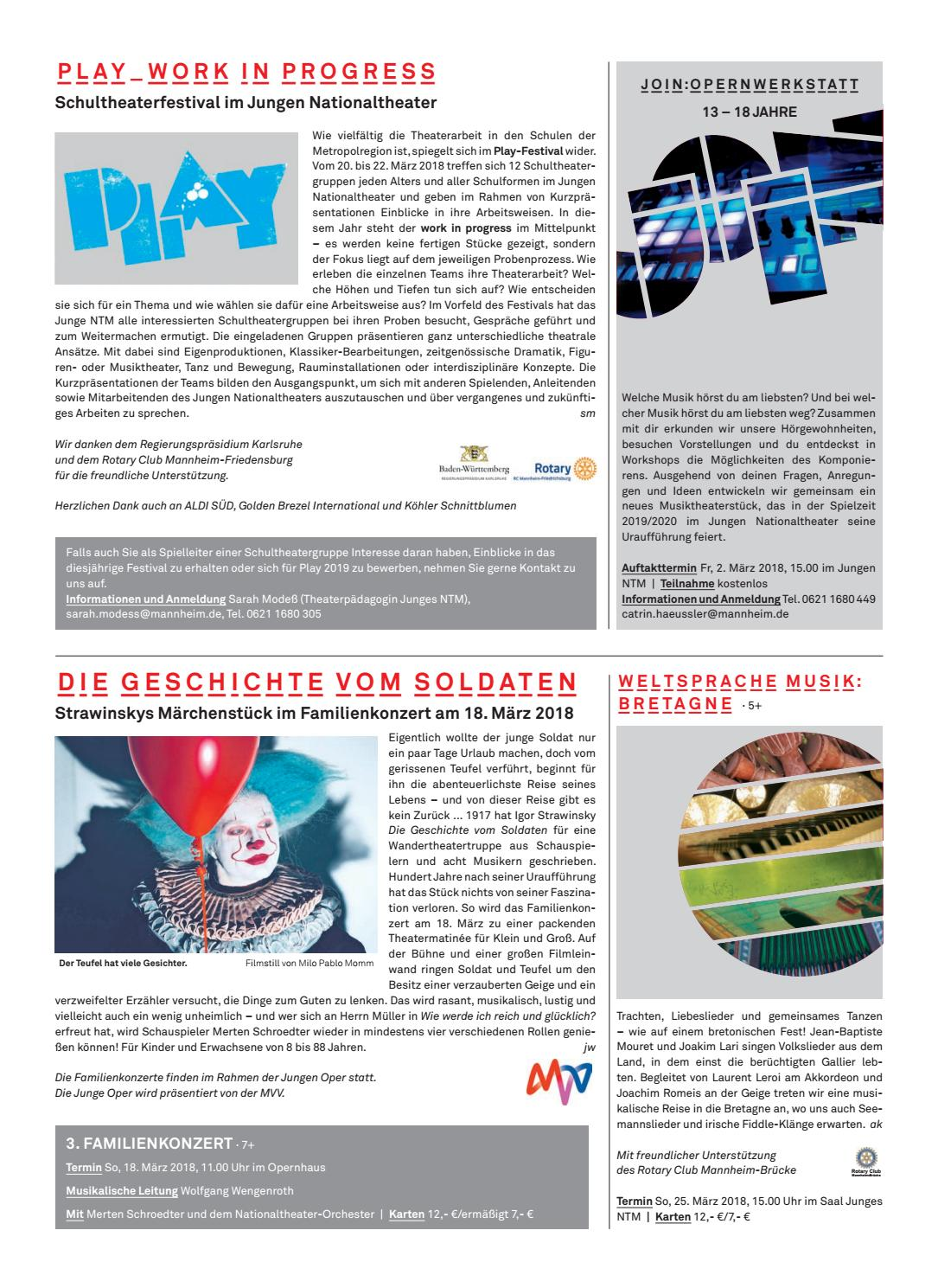 Theatermagazin März 2018 by Nationaltheater Mannheim - issuu