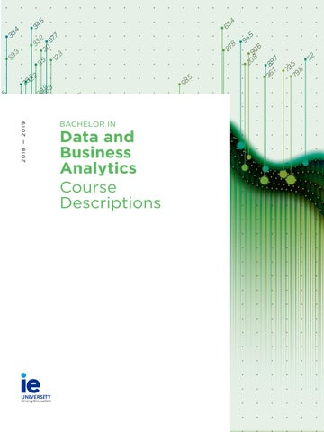 Bachelor in Data and Business Analytics Course Descriptions by IE