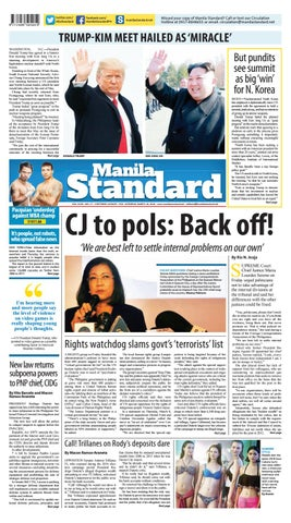 Manila Standard - 2018 March 10 - Saturday