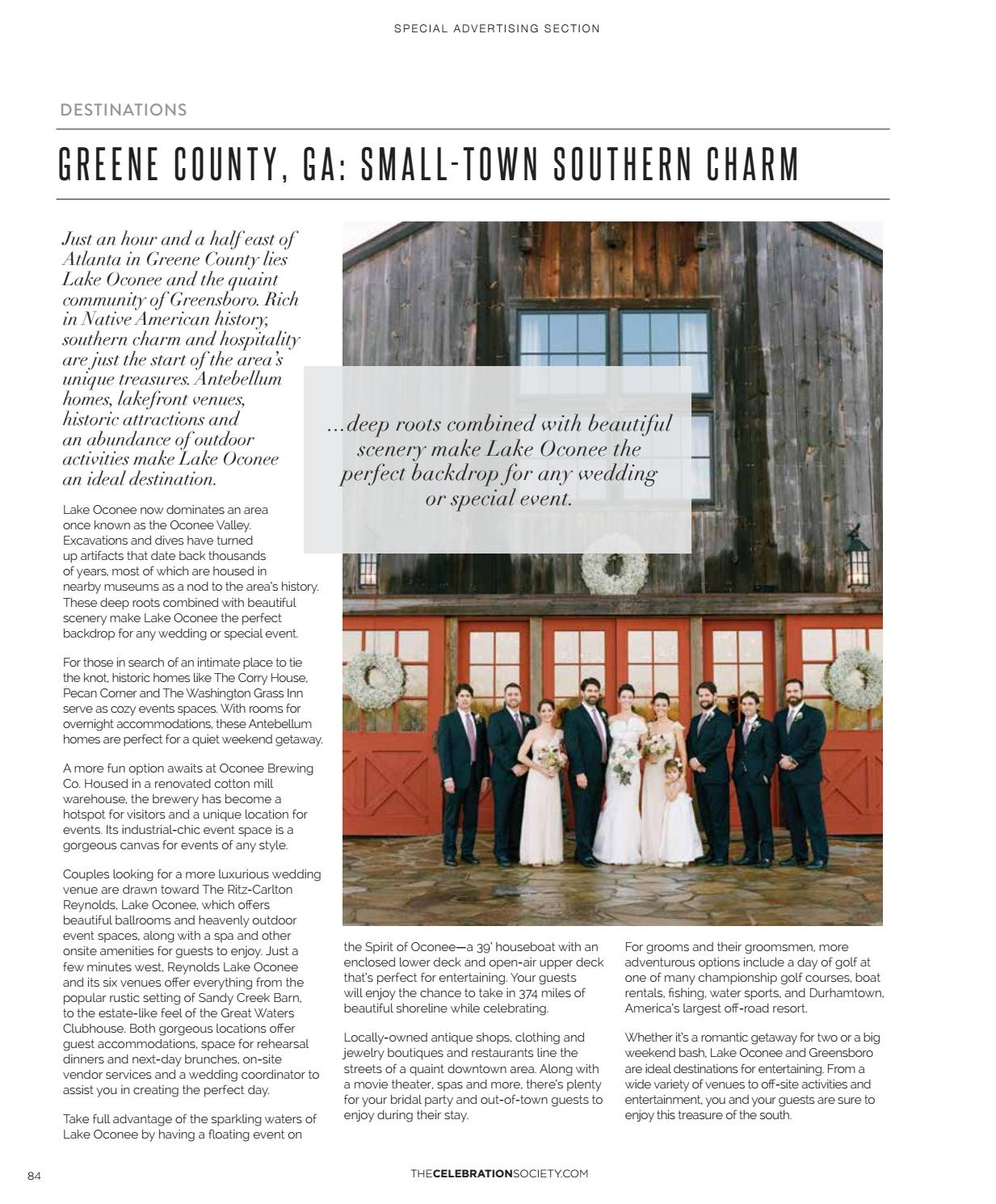 The Celebration Society Weddings Southeast by The
