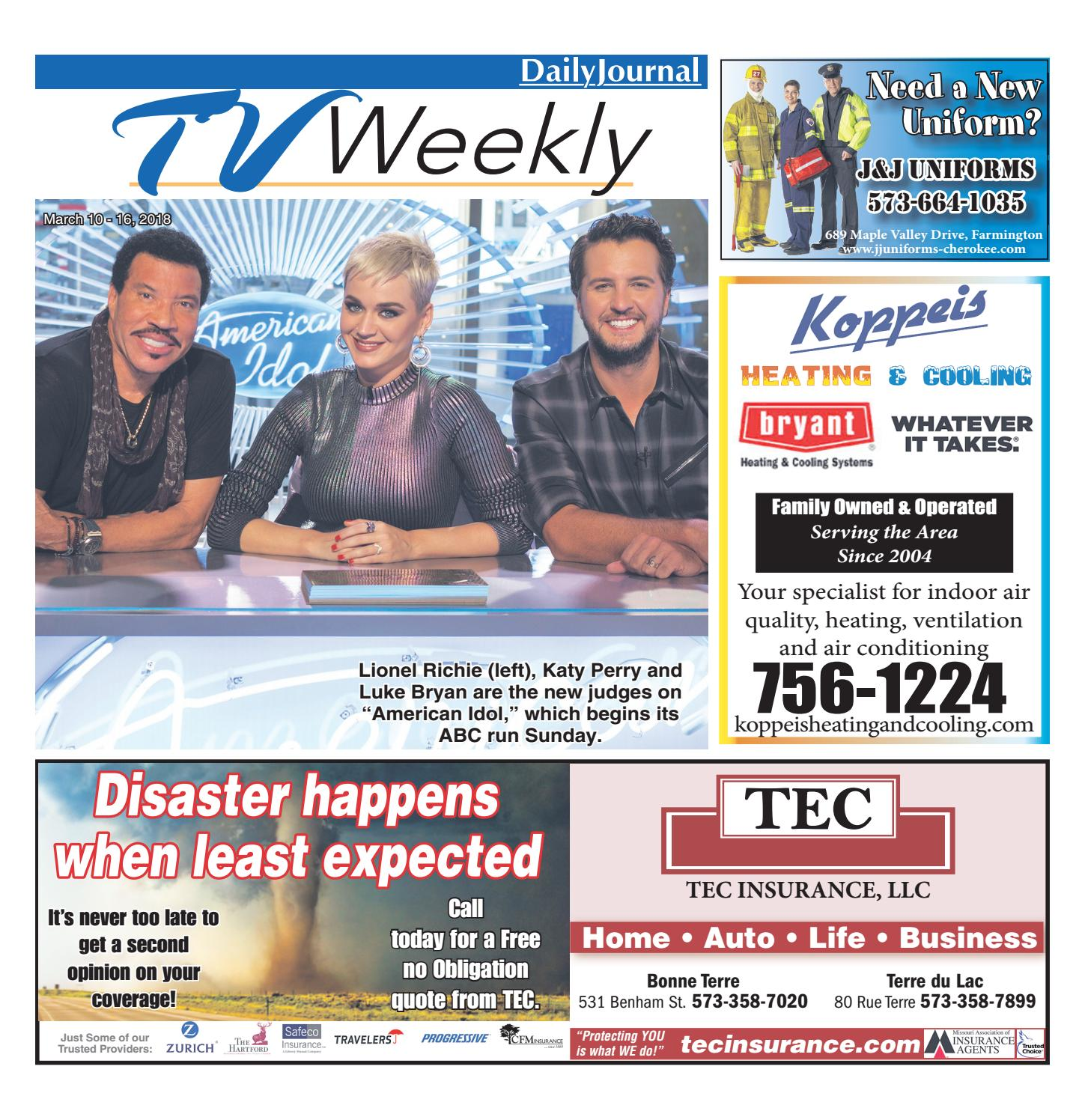 tvweekly march 10 16 2018 by daily journal online issuu