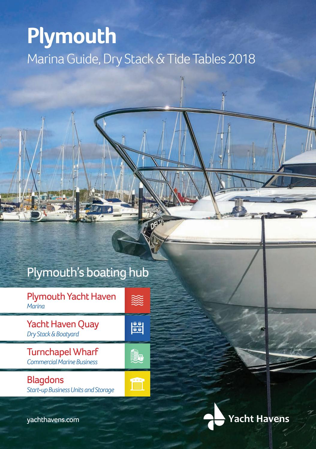 2018 Plymouth Marina Guide, Dry Stack & Tide Tables by yachthavens ...