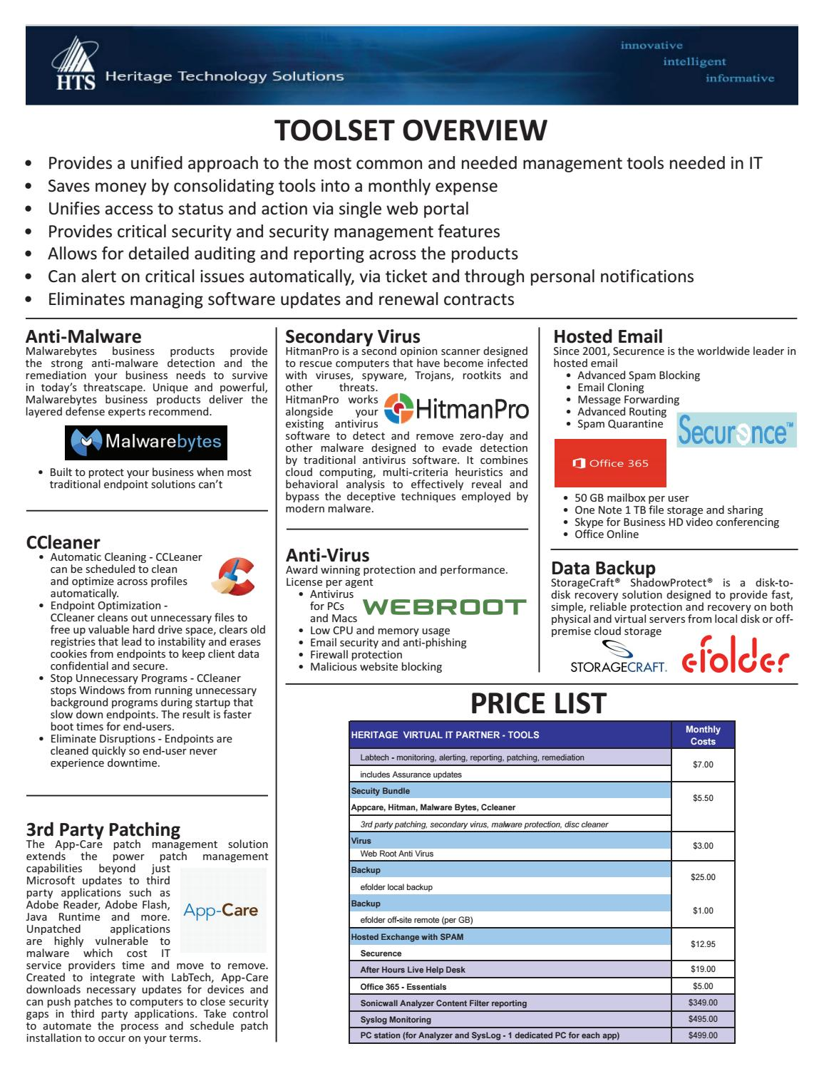HTS Virtual Tools by Derek Brown - issuu